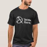 Le T-shirt noir des hommes succulents d'anarchie
