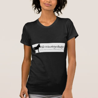 Le T-shirt noir errant de dames de logo d'ânes