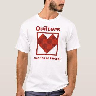 Le T-shirt Quilters de coeur, vous aiment aux