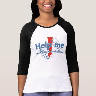 Le T-shirt raglan des dames de backgammon
