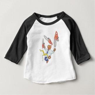Le T-shirt raglan des enfants de jonglerie d'ours