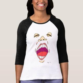 """Le T-shirt raglan des femmes de """"cri"""""""