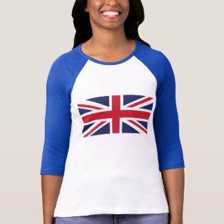 Le T-shirt raglan des femmes d'Union Jack
