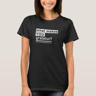 Le T-shirt reconnaissant des femmes (noir)