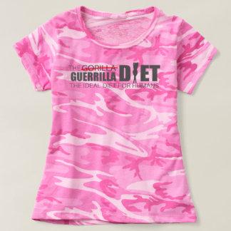 Le T-shirt rose du camouflage des femmes de régime