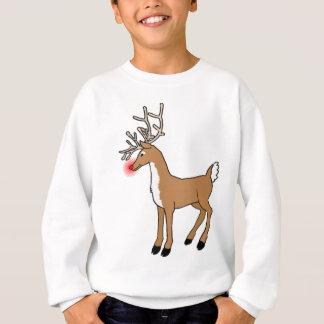 Le T-shirt rouge de Noël de renne de nez
