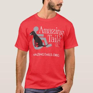 Le T-shirt rouge des hommes avec le logo sur