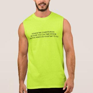 Le T-shirt sans manche des hommes avec l'honneur