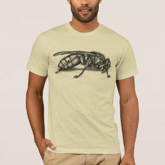 Le T-shirt semi adapté d'abeille des hommes
