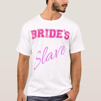 Le T-shirt SLAVE de la JEUNE MARIÉE de partie de