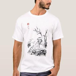 Le T-shirt unisexe des hommes samouraïs méditants