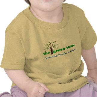 Le T-shirt vert de nourrisson de club de nature d'
