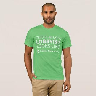 Le T-shirt vert des hommes de lobbyiste de CCL