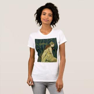 Le T-shirt vintage des femmes de nymphe