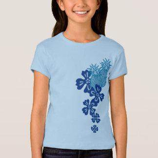 Le T-shirts de la fille de Luau d'ananas