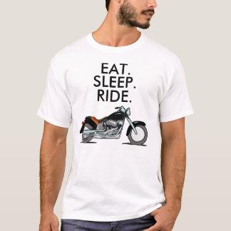 Le T-shirts de moto de motard, mange le tour de