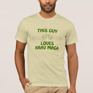 Le T-shirts des hommes de Krav Maga du monde