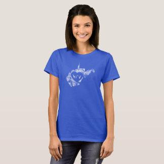 Le T-shirts d'I d'amour de la Virginie Occidentale