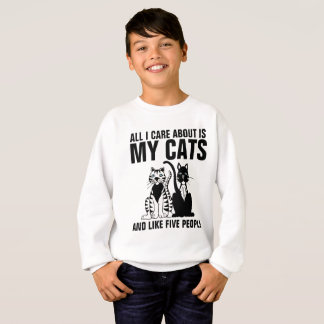 Le T-shirts drôle de chat pour des enfants, TOUS