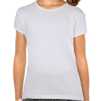 Le T-shirts enroué de la chemise de la fille de