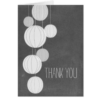 Le tableau blanc de lanternes a inspiré le Merci Carte De Vœux