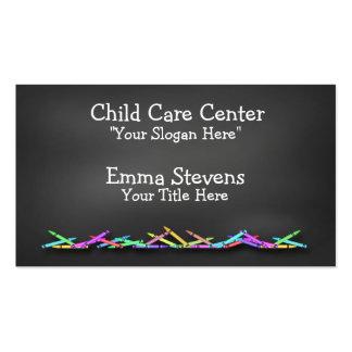 Le tableau de Childcare crayonne le carte de Cartes De Visite Professionnelles