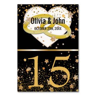 Le Tableau de mariage numéro   les anneaux d'or