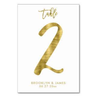 Le Tableau de mariage numérote l'effet le numéro 2 Carte