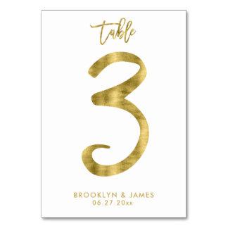 Le Tableau de mariage numérote l'effet le numéro 3 Carte