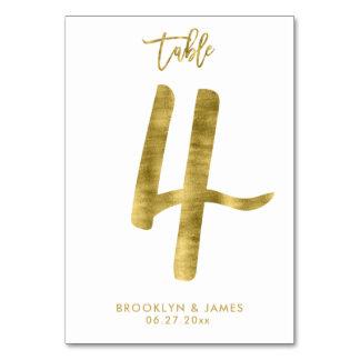Le Tableau de mariage numérote l'effet le numéro 4 Carte