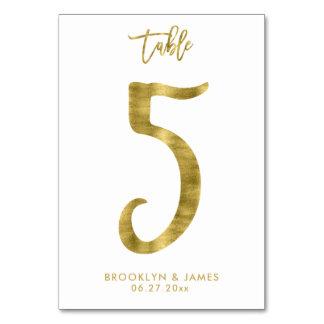 Le Tableau de mariage numérote l'effet le numéro 5 Carte