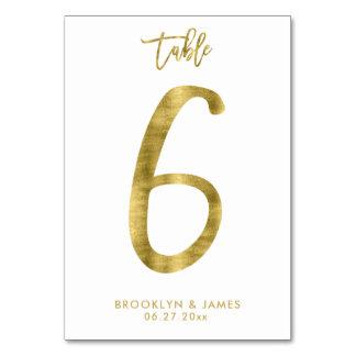 Le Tableau de mariage numérote l'effet le numéro 6 Carte