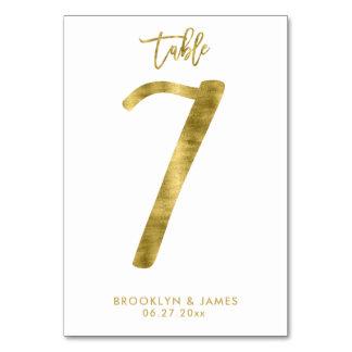 Le Tableau de mariage numérote l'effet le numéro 7 Carte