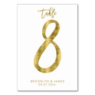 Le Tableau de mariage numérote l'effet le numéro 8 Carte