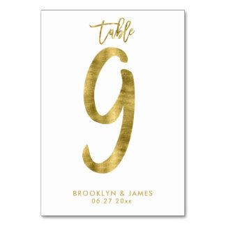 Le Tableau de mariage numérote l'effet le numéro 9 Carte
