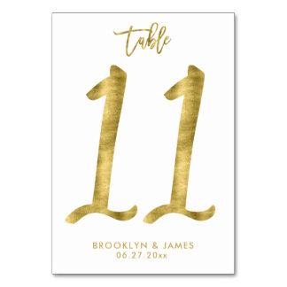 Le Tableau de mariage numérote l'effet le numéro Carte