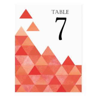 Le Tableau géométrique de triangles numéro le Carte Postale