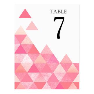 Le Tableau géométrique de triangles numéro | mauve Carte Postale