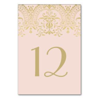 Le Tableau le numéro | de mariage rougissent