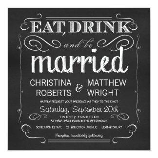 Le tableau mangent la boisson soit les invitations