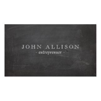 Le tableau noir du type vintage rustique frais carte de visite standard