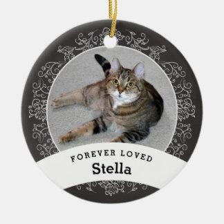 Le tableau personnalisé par mémorial d'animal ornement rond en céramique