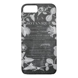 le tableau scripts le feuille botanique français coque iPhone 7