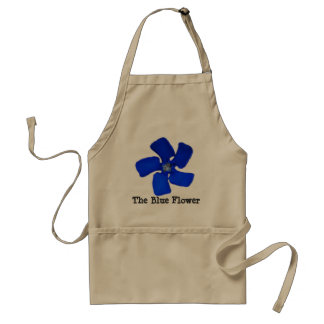 Le tablier bleu de fleur