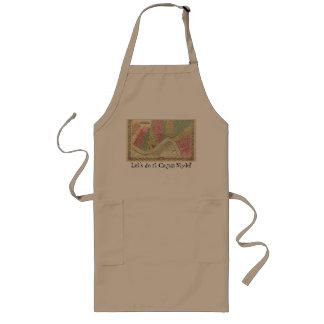Le tablier de cuisine célèbre le faire style de