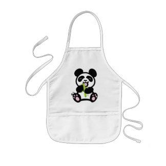 Le tablier de l'enfant heureux de panda