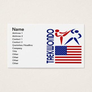 Le Taekwondo Etats-Unis Cartes De Visite