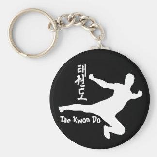 Le Taekwondo Porte-clé Rond