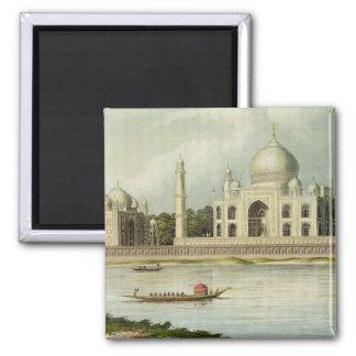 Le Taj Mahal, tombe de l'empereur Shah Jehan et Magnet Carré