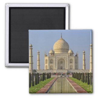 Le Taj Mahal, un mausolée situé à Âgrâ, Inde, 2 Magnet Carré